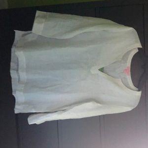 Lilly pulitzer white beaded Amelia island tunic